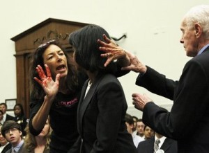 Condoleezza Rice, Tom Lantos, Desiree Anita Ali-Fairooz