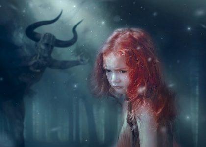 השטן לוסקי - ילדה מפוחדת