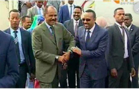 החיבוק ההיסטורי בין מנהיגי אתיופיה ואריתריאה: זהו. תחזירו את המסתננים כבר הביתה, גברים, נשים וילדים