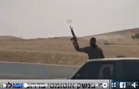 כך נראה הדרום הפרוע – עבריינים בדואים משתוללים בכביש תוך כדי ירי מטורף בנשק אוטומטי.