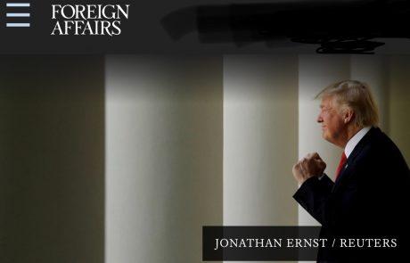 המועצה ליחסי חוץ (CFR): שנה לכהונת טראמפ והסדר העולמי ב׳מצוקה׳