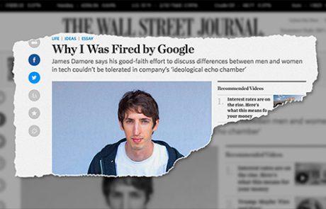 תביעה נגד גוגל בגין אפליה ונקמנות ע״י מנסח ׳מזכר הגיוון׳ בעקבותיו פוטר