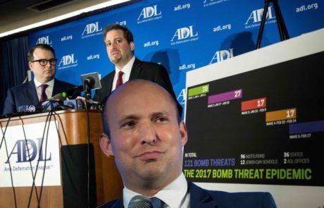 בנט מתיישר עם הליגה נגד השמצה (ADL) המאשימה את הימין בארה״ב בכל מקרי הרצח בידי קיצונים ב- 2018