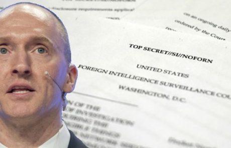 חקירת רוסיה: הצצה להתנהלות הוצאת צווי ריגול FISA ע״י אוכלי החינם, מושחתי הדיפ סטייט מכת ה״נאורים״