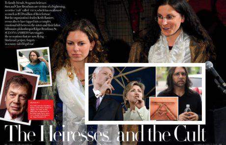 פרשת העמותות של משפחת ברונפמן, רק הפעם בקמפיין קלינטון ובשיתוף כת שפחות המין השבתאית