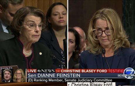 הסנטורית פיינסטיין תחקר על הדלפת מכתבה של בלייסי פורד נגד השופט קוואנו – פיינסטיין: ׳לא הסתרתי הטענות ולא הדלפתי את המכתב׳